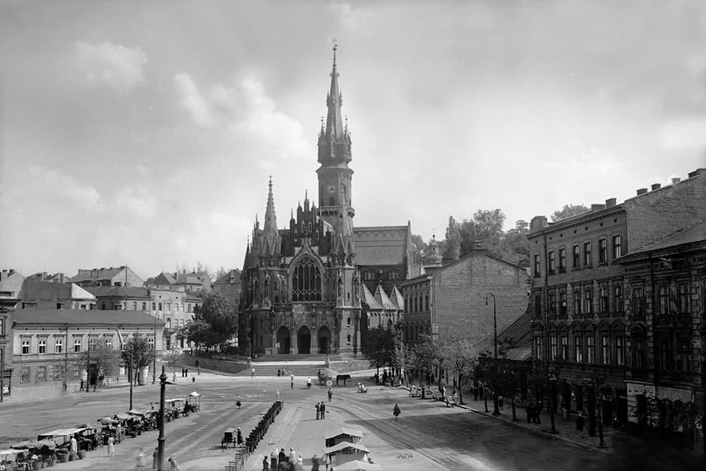 Rynek Podgórski, źródło: NAC stara fotografia
