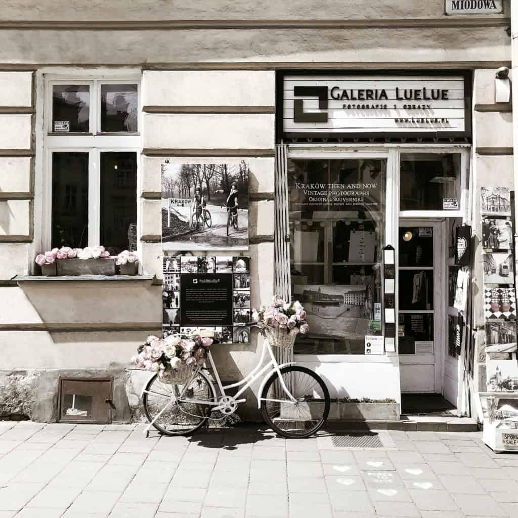 front galerii Galeria LueLue w krakowie