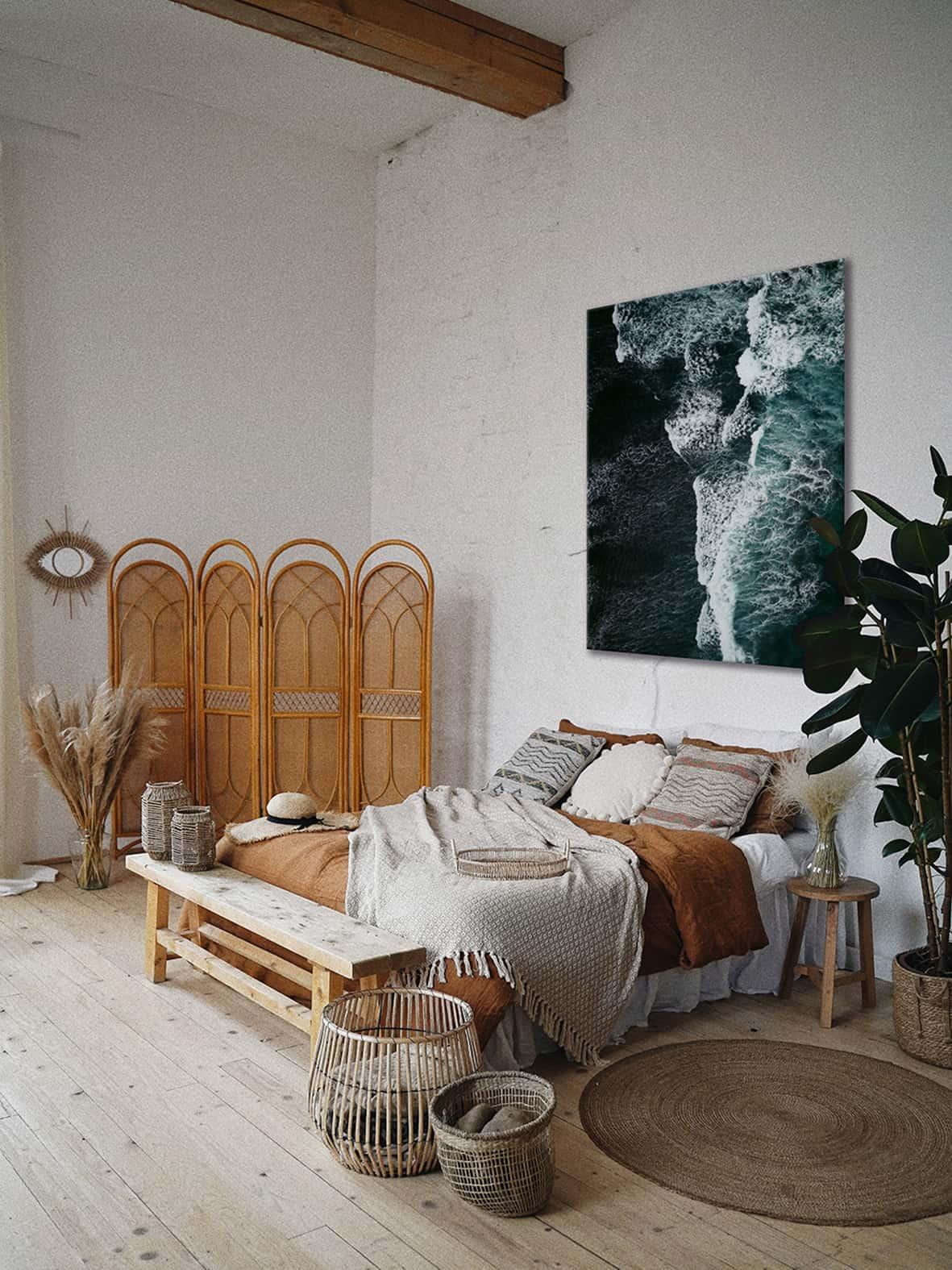 obraz do sypialni z motywem morza