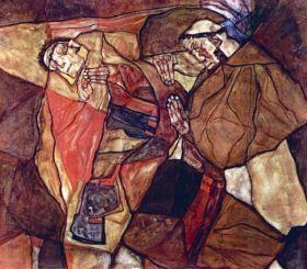 Agonia (Walka śmierci) - Egon Schiele - reprodukcja