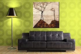 Jesienne słońce i drzewa - Egon Schiele - reprodukcja