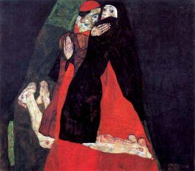 Kardynał i zakonnica - Egon Schiele - reprodukcja