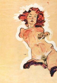 Akt kobiecy - Egon Schiele - reprodukcja