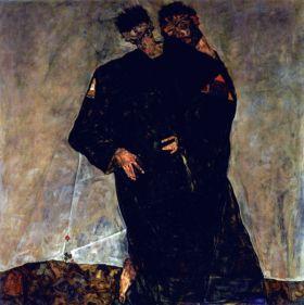 Pustelnicy - Egon Schiele - reprodukcja