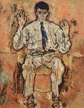 Portret Alberta Parisa von Gutersloh - Egon Schiele - reprodukcja