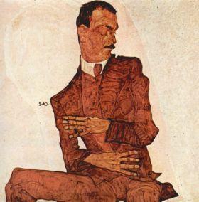 Portret Arthura Rosslera - Egon Schiele - reprodukcja