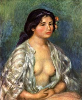 Gabrielle z rozpiętą bluzką - Auguste Renoir - reprodukcja