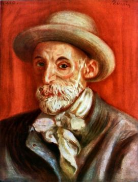Autoportret (1910 r.) - Auguste Renoir - reprodukcja