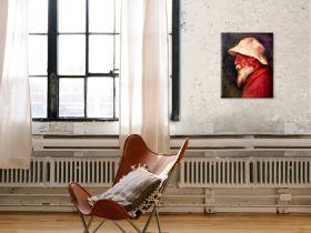 Autoportret w białym kapeluszu - Pierre Auguste Renoir - reprodukcja