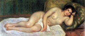 Akt wspierający - Pierre Auguste Renoir - reprodukcja