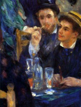 Bal w Moulin de la Galette (Detal) - Pierre Auguste Renoir - reprodukcja