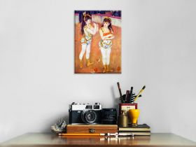 Akrobaci w Cirque Fernando (Francisca i Angelina Wartenberg) -  Auguste Renoir - reprodukcja