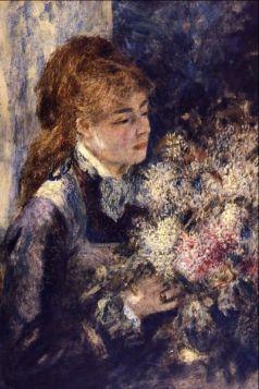 Kobieta z bzami -  Auguste Renoir - reprodukcja