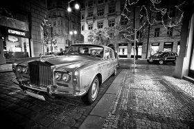 Rolls-Royce w centrum Pragi
