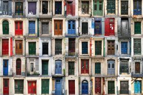 Abstrakcja, Francuskie drzwi