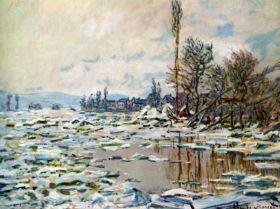 Break Up of Ice by Monet
