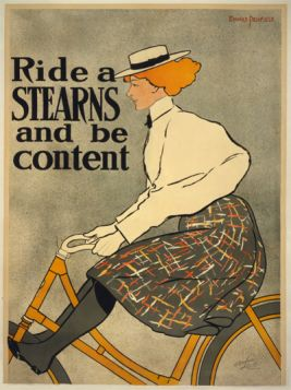 Poster - Rower - Ride a Stearns and be content