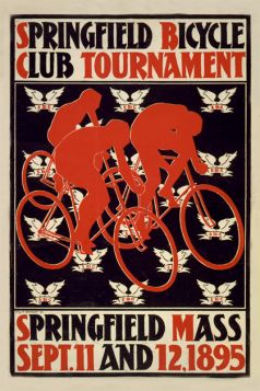Poster - Rower - 1895 Springfield Bicycle