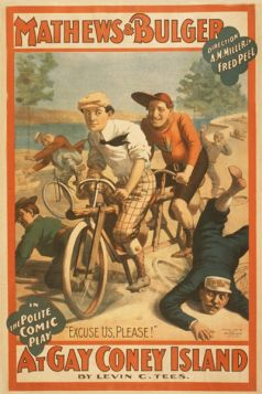 Poster - Rower -  1896 - Mathews & Bulger in the polite comic play, At gay Coney Island by Levin C. Tees