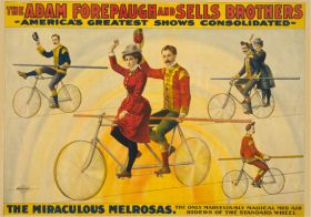 Poster - Rower - Adam Forepaugh and Sells Brothers