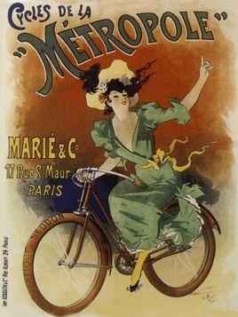 Poster - Rower -1896 - Cycles de la Metropole