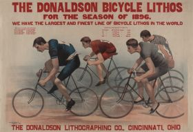 Poster - Rower - The Donaldson bicycle lithos for the season of 1896