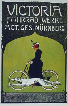 Poster - Rower - 1899 -  Victoria Fahrrad-Werke