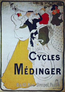 Poster - Rower - Cycles Medinger, 1897