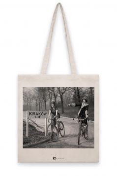 Torba lniana - Dziewczyny na rowerach, Kraków