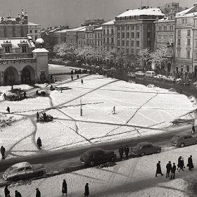 Krakowski Rynek zimą