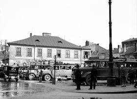 Autobusy na dworcu przy Placu Św. Ducha