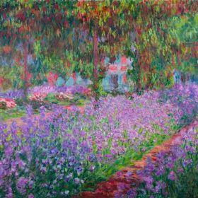 Ogród artysty w Giverny - Claude Monet  - reprodukcja
