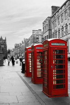 Londyn - budki telefoniczne
