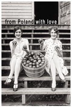 Kartka pocztowa – Dziewczyny z jabłkami