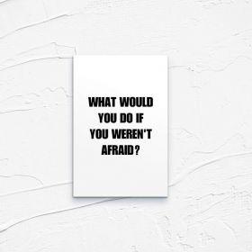 Kartka pocztowa – Afraid