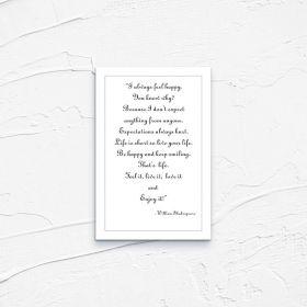 Kartka pocztowa – Shakespeare I always feel happy