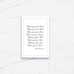 Kartka pocztowa – Shakespeare I always feel happy II