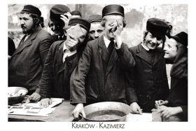 Kartka pocztowa – Chłopcy żydowscy podczas święta