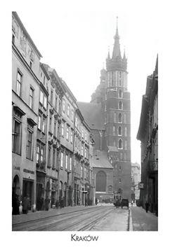 Kartka pocztowa – Ulica Floriańska z Kościołem Mariackim