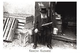 Kartka pocztowa – Żyd czytający gazetę