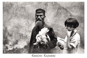 Kartka pocztowa – Żyd i kura-napis