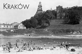 Kartka pocztowa – plaża pod Wawelem