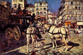 Autobusy na Placu Pigalle w Paryżu - Giovanni Boldini - reprodukcja