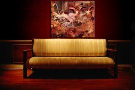 "Flamingi w ""Palais Rose"" w Vésinet - Giovanni Boldini - reprodukcja"