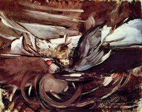 Szara gra - Giovanni Boldini - reprodukcja