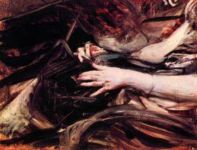 Ręce szyjącej kobiety - Giovanni Boldini - reprodukcja