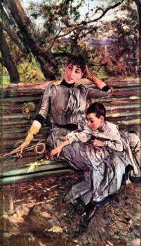 W ogrodzie - Giovanni Boldini - reprodukcja