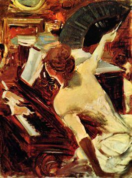 Piosenkarka Mondana - Giovanni Boldini - reprodukcja
