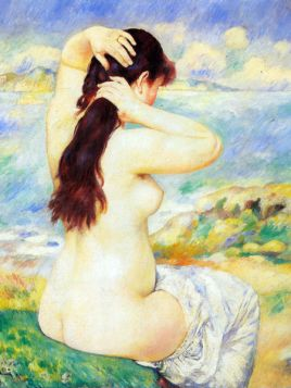 Kąpiąca się - Pierre Auguste Renoir - reprodukcja