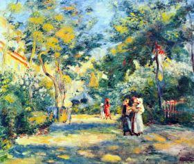 Ogród w Montmartre - Pierre Auguste Renoir - reprodukcja